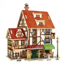 Robotime dřevěná skládačka Francouzská kavárna