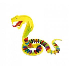 Robotime dřevěná skládačka - Had +barvy a štětec