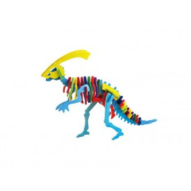 Robotime dřevěná skládačka - Parasaurolophus +barvy a štětec