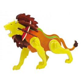 Robotime dřevěná skládačka - Lev +barvy a štětec