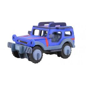 Robotime dřevěná skládačka - Jeep + barvy a štětec