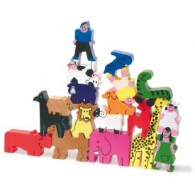 Dřevěná hračka Vilac - Věž se zvířátek