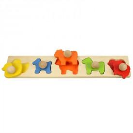 Bigjigs Toys - Vkládací puzzle zvířata