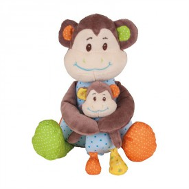 Bigjigs Toys textilní postavička - Opička