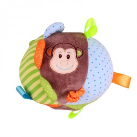 Bigjigs Toys textilní aktivní koule - Opička