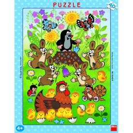 Dino Puzzle Krteček a Velikonoce 40 dílků