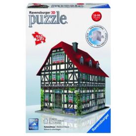 Puzzle 3D Středověký dům 216 dílků