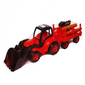 Polesie Traktor Šampion lesnický 80 cm červený