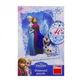 DINO Puzzle Ledové království 33x47 cm 200 dílků + lepidlo