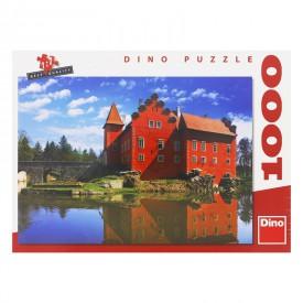 DINO Puzzle Zámek Červená lhota 47x33 cm 1000 dílků