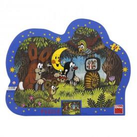 DINO Puzzle Krtek Večer u Krtečka kontura 36x28 cm 25 dílků