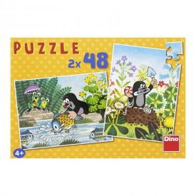 DINO Puzzle Krtek 26,4x18,1 cm 2x48 dílků
