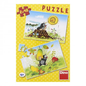 DINO Puzzle Krtek Krtkův svět 26,4x18,1cm 2x48 dílků