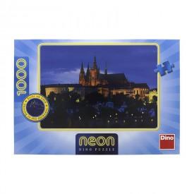 DINO Puzzle Večerní Praha svítící ve tmě 66x47 cm