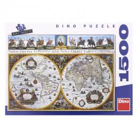 DINO Puzzle 1500 dílků Historická mapa