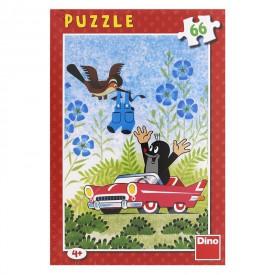 DINO Puzzle 66 dílků Krtek a autíčko