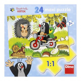 DINO Puzzle Maxi 24 dílků Krtek 66x47 cm