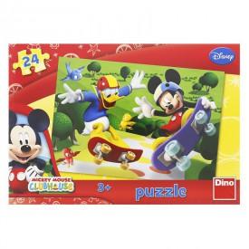 DINO Puzzle 24 dílků Mickeyho Klubík