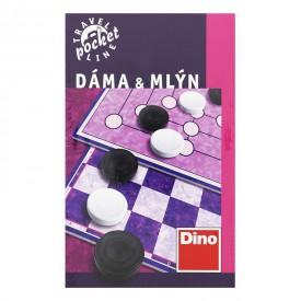 DINO Cestovní hra Dáma a mlýn