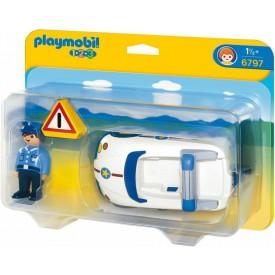 PLAYMOBIL 6797 Policejní autíčko (1.2.3.)