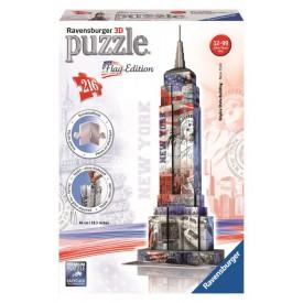 Ravensburger 3D Puzzle Empire State Building Vlajková edice 216 dílků