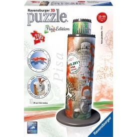 Ravensburger 3D Puzzle Šikmá věž v Pise Vlajková edice 216 dílků