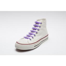SHOEPS Silikonové tkaničky fialové
