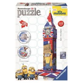 Ravensburger 3D Puzzle Big Ben Mimoňové 216 dílků