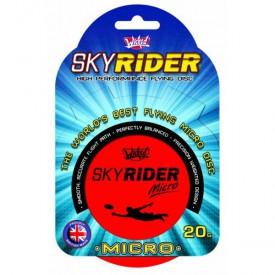Létající talíř Sky Rider Micro 10 cm - červený