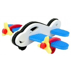 3D Pěnová hračka - letadlo bílé