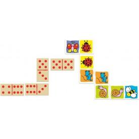 Vilac dřevěné velké oboustranné domino