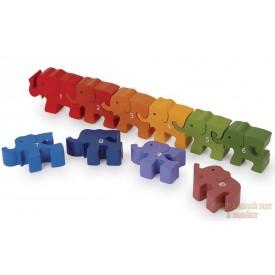 Puzzle sloní karavana