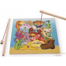 Magnetické puzzle akvárium