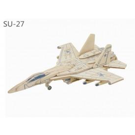 Robotime dřevěná skládačka - Ruská stíhačka SU-27