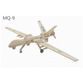Robotime dřevěné skládačky 3D puzzle - Drone MQ 9