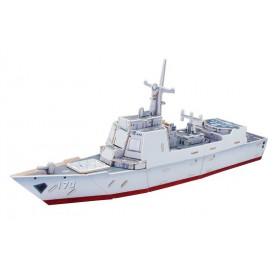 Robotime dřevěná skládačka - Útočná loď Destroyer Typ 052C