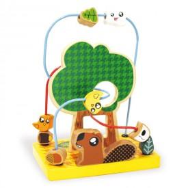 Dřevěné hračky Vilac - Labyrint lesní zvířátka