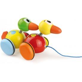Dřevěná hračka Vilac - Kolíbací tahací kačeři