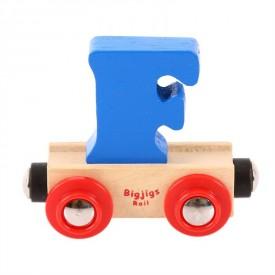 Bigjigs Rail vagónek dřevěné vláčkodráhy  - Písmeno F