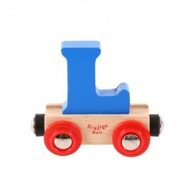 Bigjigs Rail vagónek dřevěné vláčkodráhy - Písmeno L