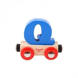 Bigjigs Rail vagónek dřevěné vláčkodráhy - Písmeno Q