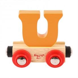 Bigjigs Rail vagónek dřevěné vláčkodráhy - Písmeno U