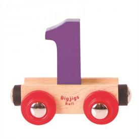 Bigjigs Rail vagónek dřevěné vláčkodráhy - Číslo 1