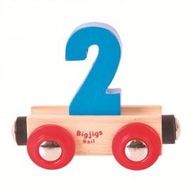 Bigjigs Rail vagónek dřevěné vláčkodráhy - Číslo 2