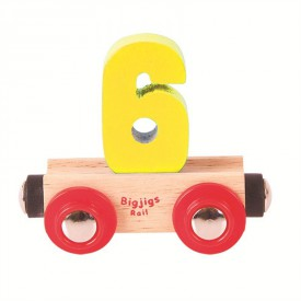Bigjigs Rail vagónek dřevěné vláčkodráhy - Číslo 6