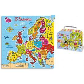 Vilac - Dřevěné puzzle mapa Evropy 144 dílků