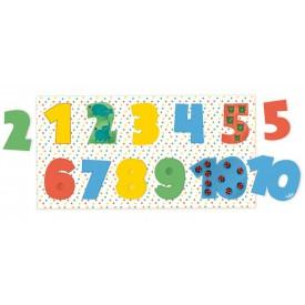 Vilac dřevěné vkládací puzzle čísla