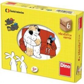 Dino Kostky kubus dřevěné Pohádky 6Ks