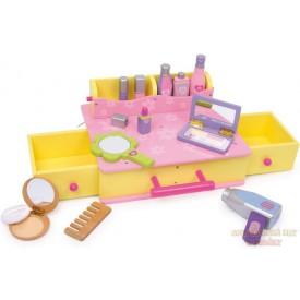 Dřevěný kosmetický kufřík