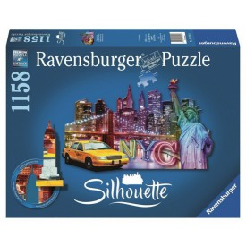 Ravensburger Silhouette puzzle Skyline New York 1158 dílků